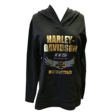 afb4ed3ce39a Harley-Davidson 115th Anniversary Women s Pullover Hoodie - Overseas Tour    Motorcycle Queen Small