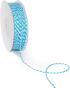CT CRAFT LLC Bakers Twine String, for Home Decor, Gift Wrapping, DIY Crafts, 1 mm x 100 Yards x 1 Rolls, Blue Turquoise