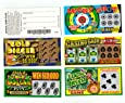 Unbranded 5 Phony Fake All Winning Scratch Off Lottery Tickets -Joke- Prank- Gag