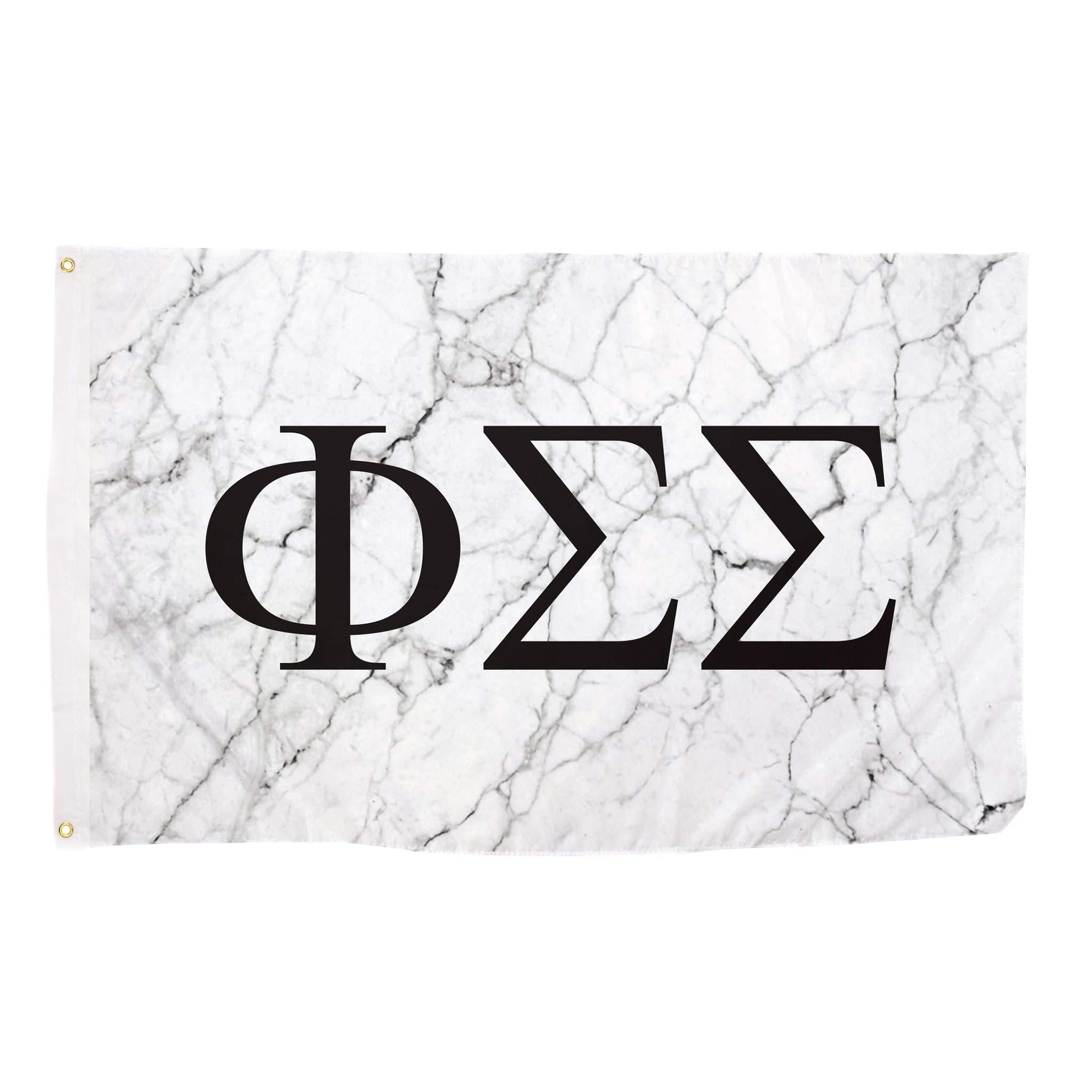 Phi Sigma Sigma Light Marble Sorority Letter Flag Banner 3 x 5 Sign Decor Phi Sig