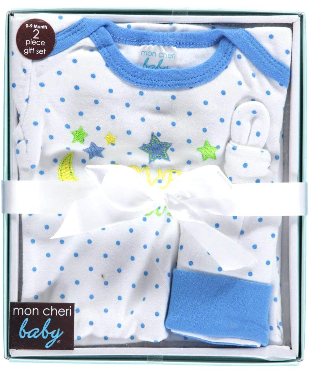 Mon Cheri Baby Baby Boys'To the Moon Nightgown & Cap Gift Set preemie