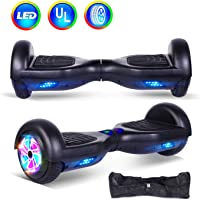 """jolege Hoverboard 6.5"""" Self Balancing Scooter Electric Hover board with Colorful LED Wheel Light UL 2272 Certified, Fit for Kids Adult Includes Free Portable Bag & Charger"""