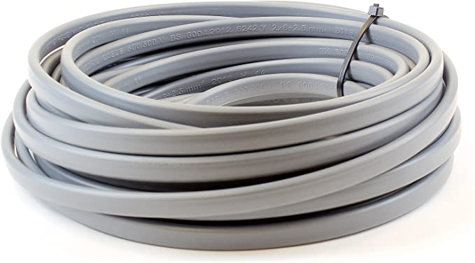 cooker wire *** CUT PER METER *** 6mm T/&E Cable 6242y Twin shower Earth