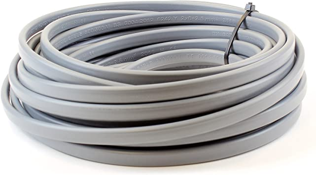 Ali S Diy 1 5 Mm Twin And Earth 6242y Flat Grey Electric Cable 20 Metre Cut Length Amazon Co Uk Diy Tools
