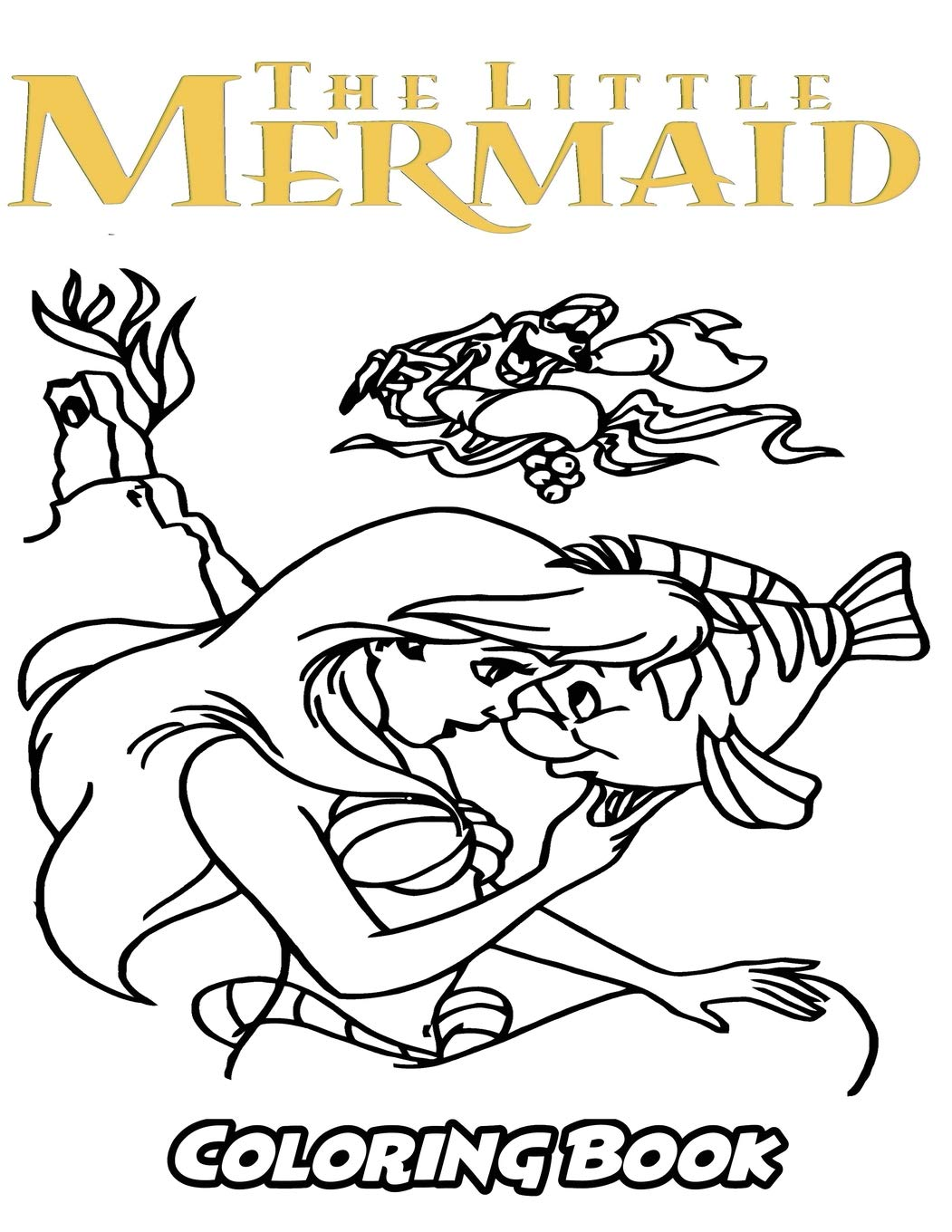 Amazon.com: The Little Mermaid Coloring Book: Coloring Book for Kids ...