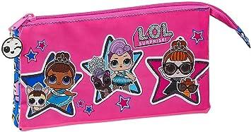 L.O.L Surprise Together Estuche Portatodo Triple Escolar para Niñas, Multicolor: Amazon.es: Equipaje