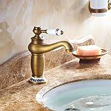 Beelee Antikes Messing Mischbatterie Wasserhahn Bad Armatur  Waschtischarmatur Waschbeckenarmatur Einhebelmischer Badarmatur