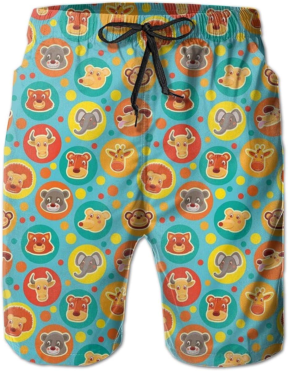 Butterflies Pattern Mens Beach Shorts Swim Trunks Stripe Quick Dry Casual Polyester Swim Shorts