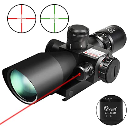 Cvlife 2.5 10x40e Red & Green Illuminated Scope With 20mm Mount by Cvlife