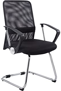 clp cantilever chair with arms pitt backrest with net cover metal frame black