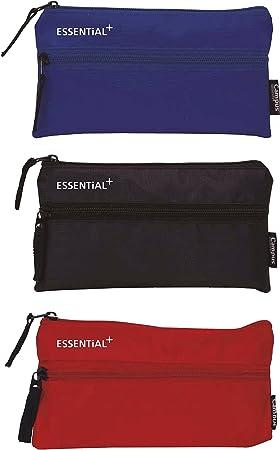 3X Estuche Portatodo Tela 2 Cremallera Essentials + 3 Colores: Amazon.es: Electrónica