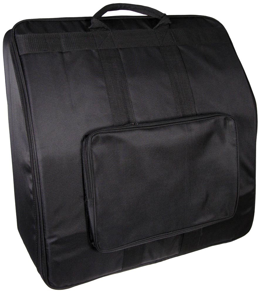 Mxfans Thickened Accordion Bag Case for 60 Bass Accordions 43x45cm Black