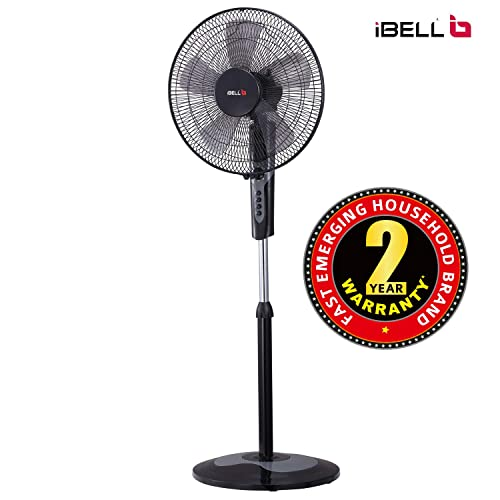 9. iBELL CHROME10 5 Leaf Pedestal Fan