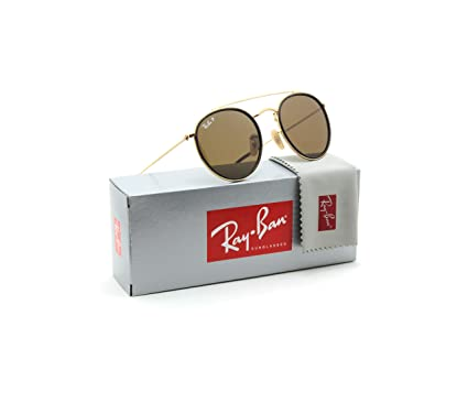c45e67f3c Image Unavailable. Image not available for. Color: Ray-Ban RB3647N  Polarized Round Double Bridge Unisex Sunglasses 001/57 - 51