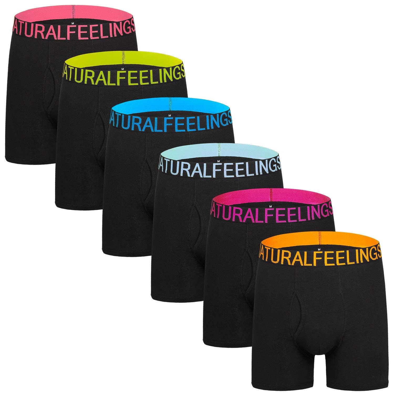 Dream Catcher Mens Underwear Boxer Briefs Black Wide Waistband Underwear Men Pack Open Fly Men's Underwear