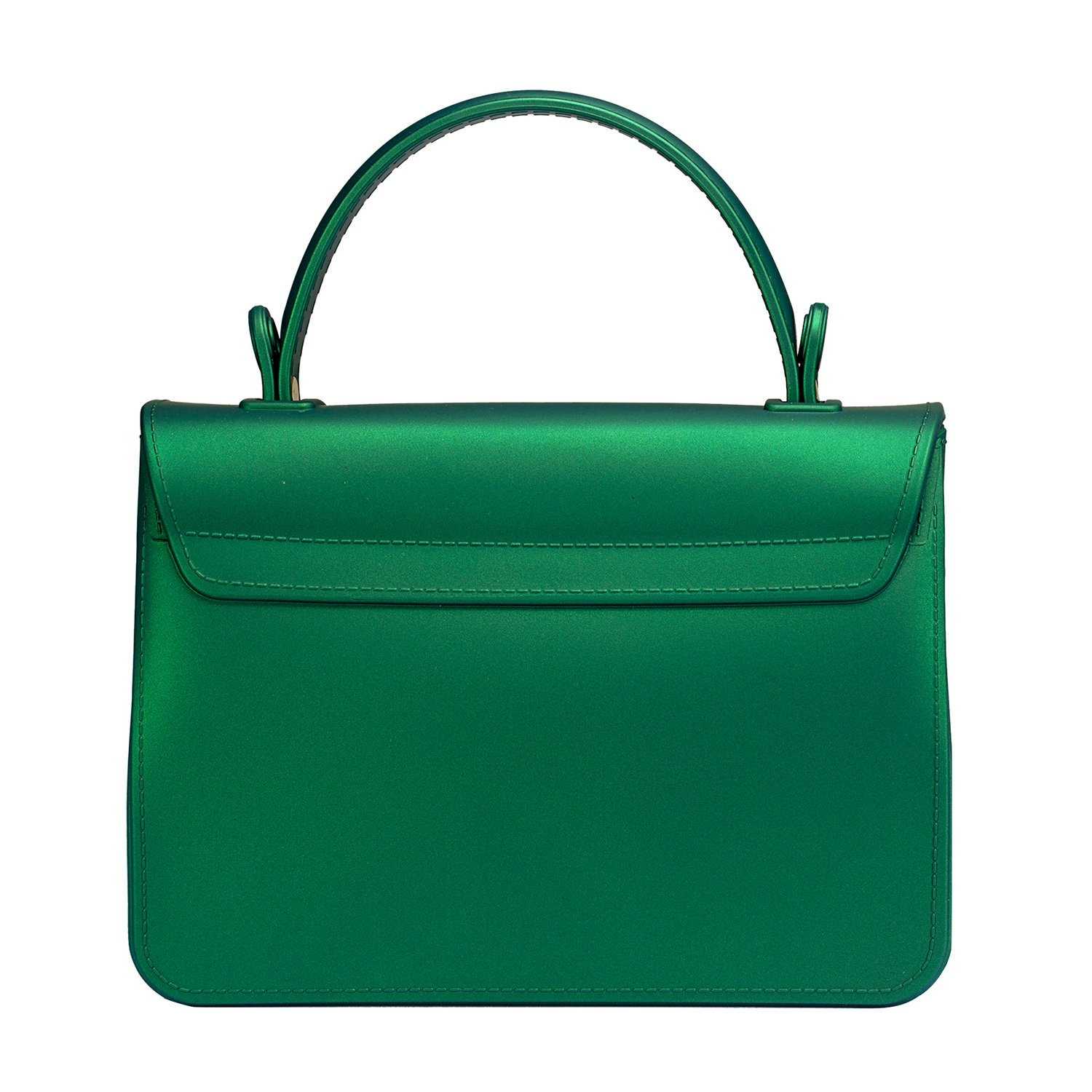 Small Top Handle Handbags Jelly Satchel Bags for Women Tote Purse - Green by Chrysansmile (Image #3)