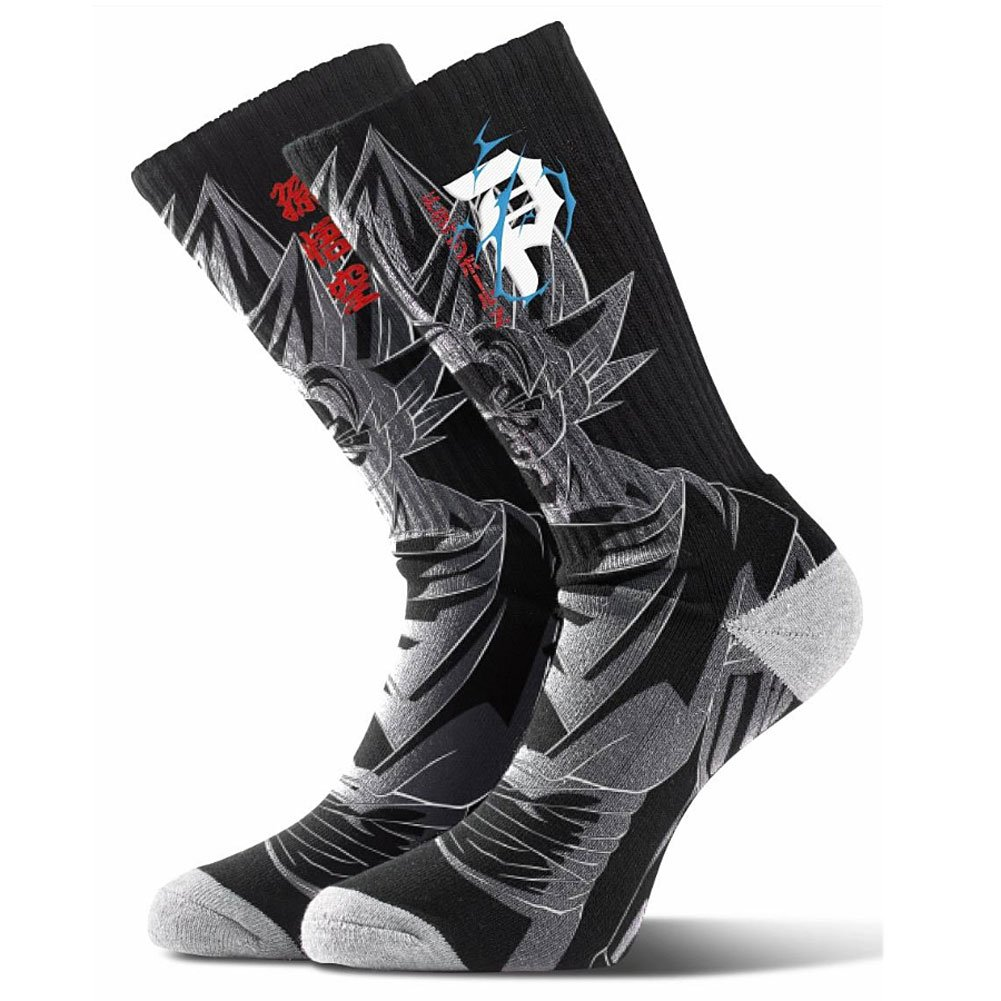 Primitive x Dragon Ball Z Men's Saiyan Goku Crew Socks Black PA118S07