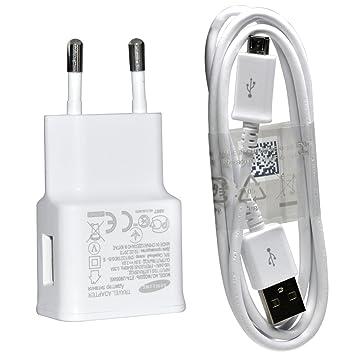 Samsung U90 de ETA U90EWE Cargador rápido 2 A con Cable de Datos y Carga ECB-DU4AWE Blanco- Versión Extranjera