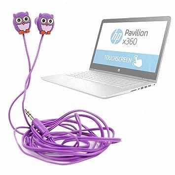 DURAGADGET Auriculares para niños estéreo in Ear con diseño de búho para Portátil HP Pavilion x360 14-ba004ns, HP Pavilion x360 14-ba031ns, HP Pavilion X360 ...