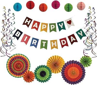 Amazon.com: Buen kit de fiesta de cumpleaños, decoración de ...