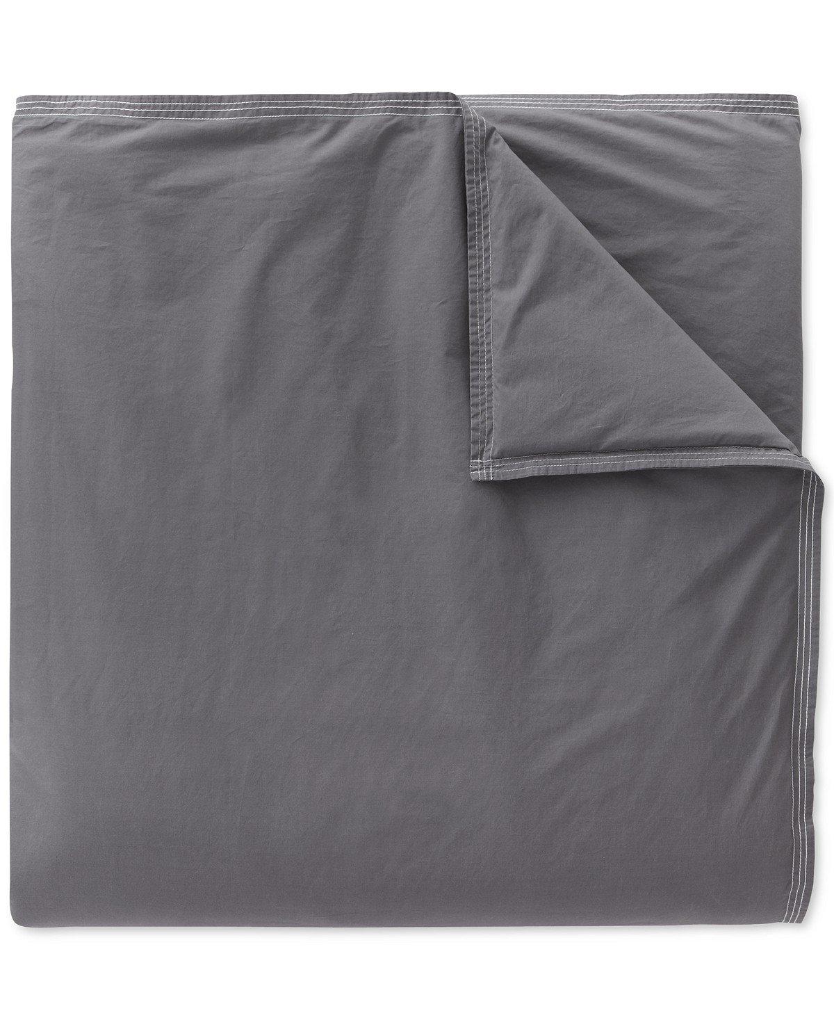 Lacoste Washed Solid Duvet Set Indigo Blue King Sunham Home Fashions 16270312