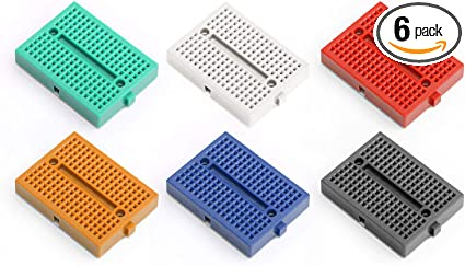 DEVMO 6pcs Mini Solderless Prototype Breadboard SYB-170 170 Tie-Points Compatible with Arduino Proto Shield Bread Board