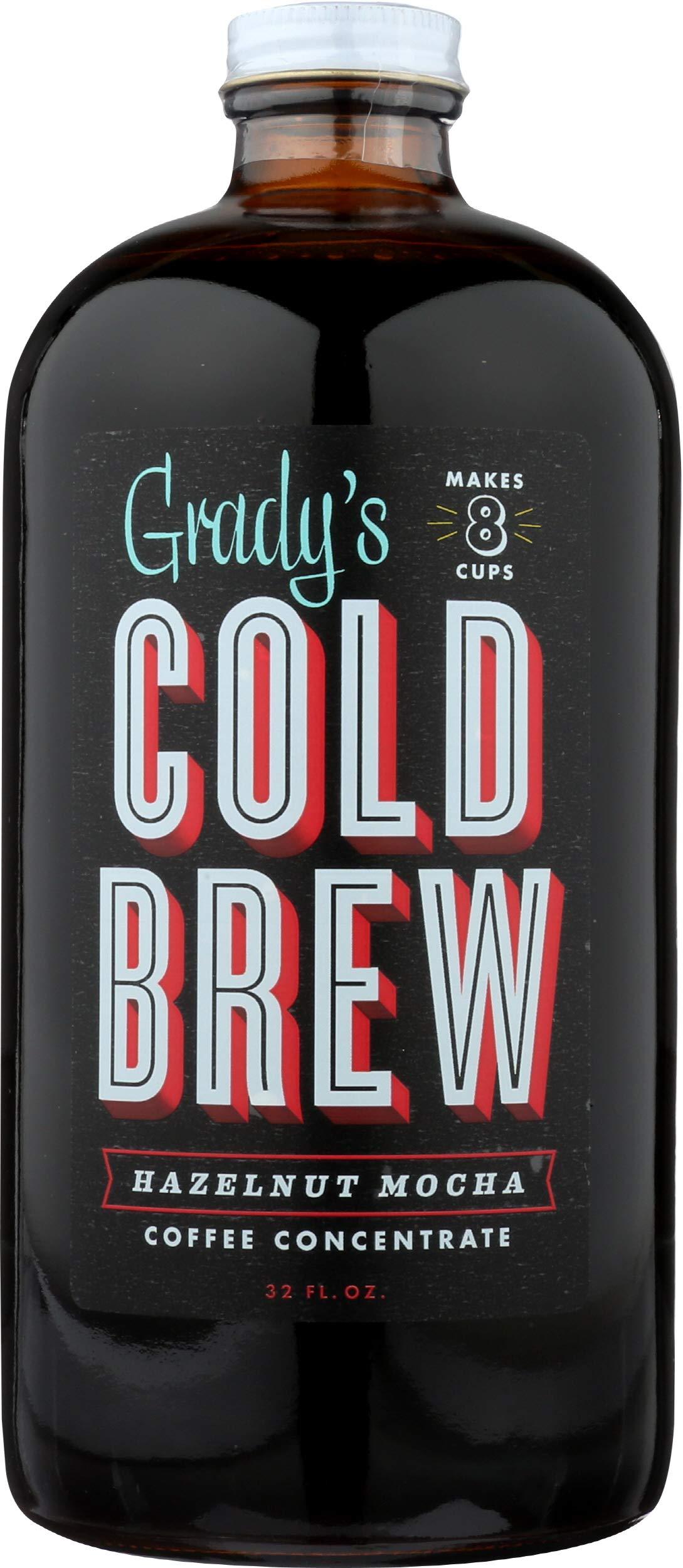 Grady's Cold Brew Grady's Cold Brew Hazelnut Mocha Coffee Concentrate Makes 8 Cupsper Bottle,, 32 Fl Oz (pack Of 6)