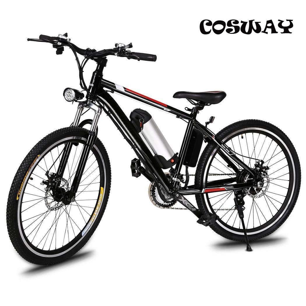 Speed Electric Mountain Bicycle with 26'' Fat Tire Suspension Fork and 36V Lithium-ion Battery [US STOCK]