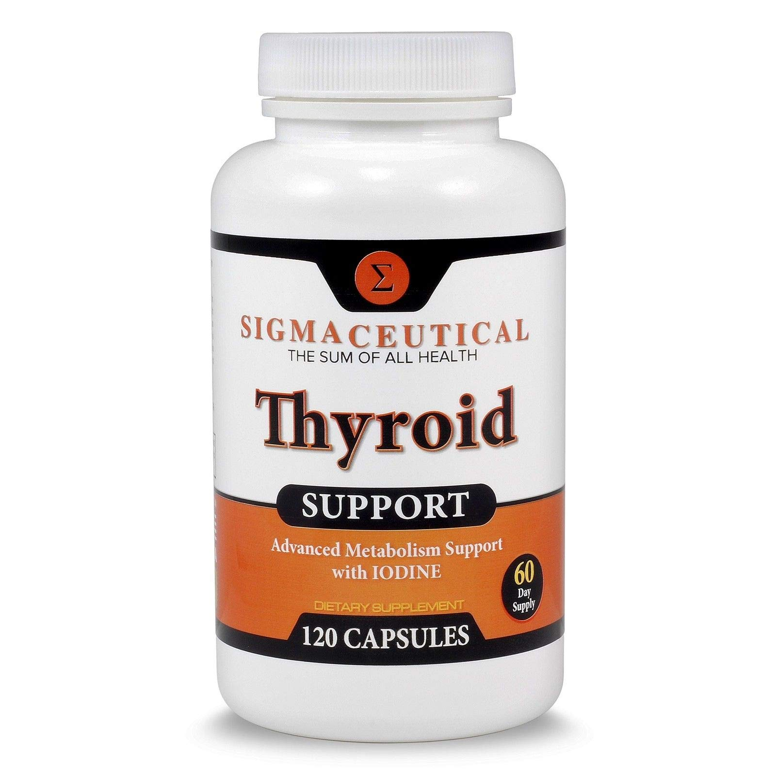 #1 Best Thyroid Support with Iodine Supplement for Energy Metabolism Boost 60 Tablets
