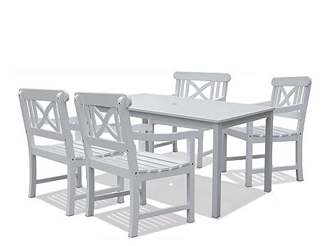 Amazon.com: vifah v1336set2 Bradley mesa rectangular y ...