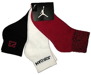 Nike Air Jordan Elefante Imprimir Niños 3pr Quarter Calcetines Sz 5y-7y/9 - 11 (Juventud): Amazon.es: Deportes y aire libre