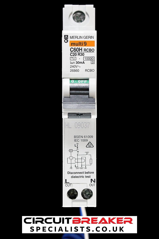 Schneider Elec PBT–ITL 2024–Switch C60H RCBO 20A Plus-N 30mA–C