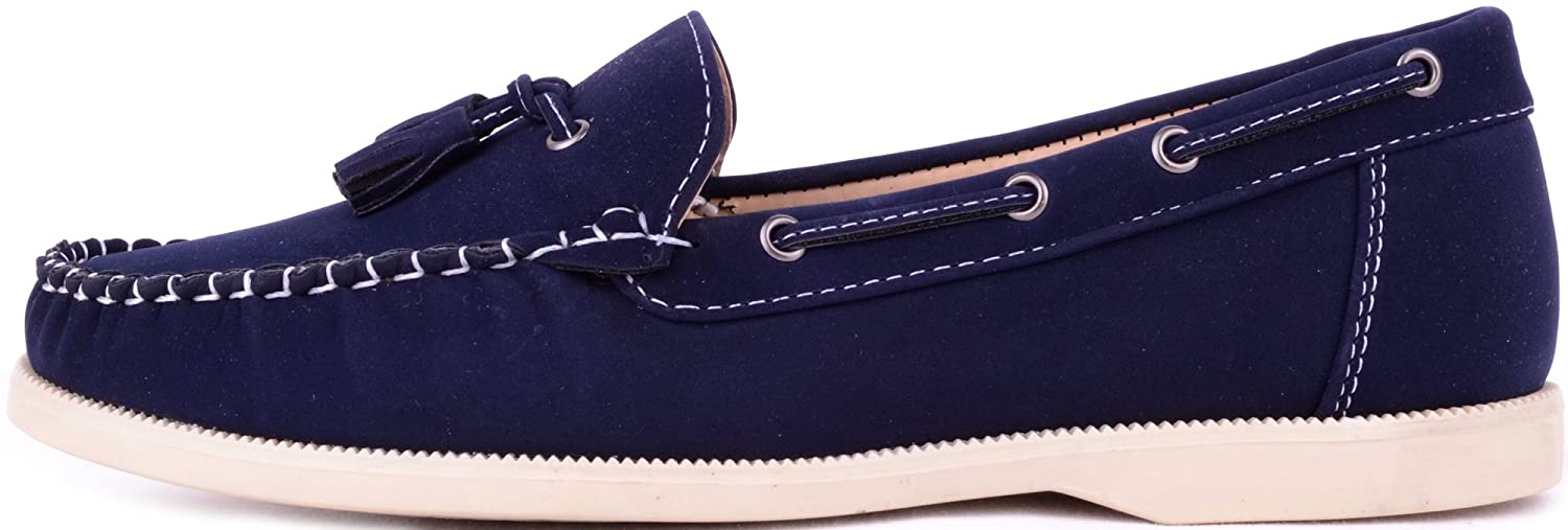 Ladies / Womens Smooth Suede Smart / Casual / Formal / Boat / Deck Shoes:  Amazon.co.uk: Shoes & Bags