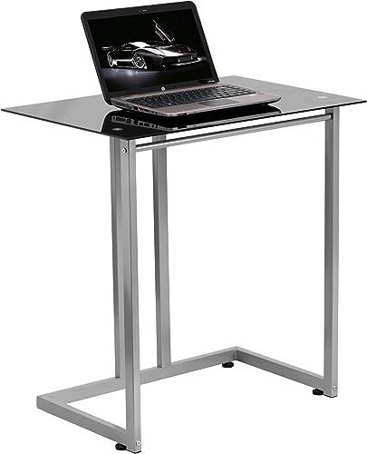 Flash Furniture Black Tempered Glass Computer Desk