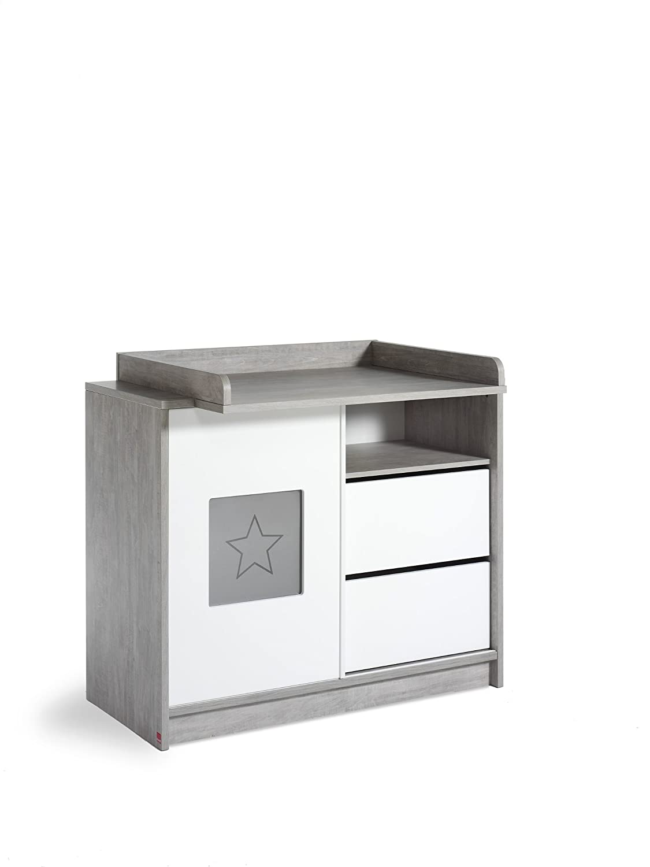 Schardt 055802200 Wickelkommode Eco Star, mit Wickelaufsatz