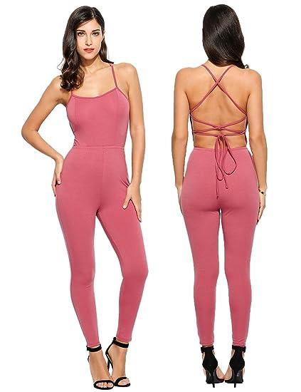 fb78b29403a3 Amazon.com  Goodfans Romper Jumpsuit Long Black Romper Tight Jumpsuit  Jumpsuits   Rompers  Clothing