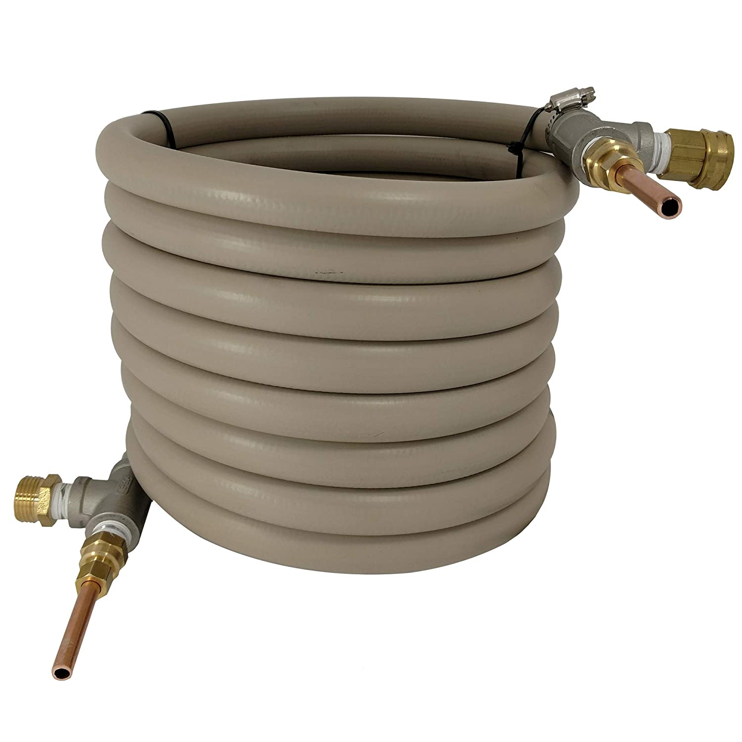 Super Efficient 25' Counterflow Wort Chiller - NY Brew Supply WCF25-DC