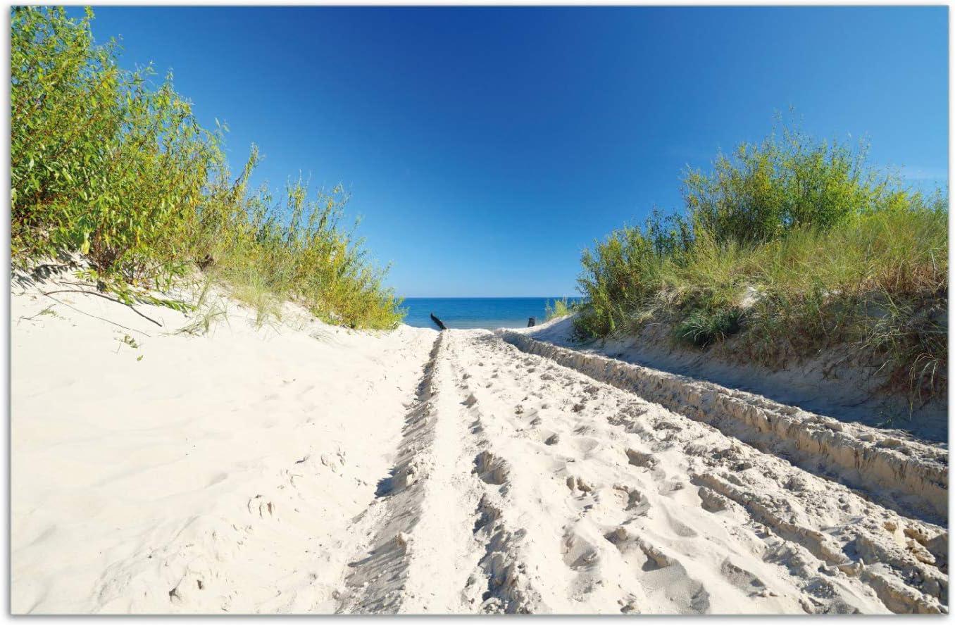1-teilig Auf dem Sandweg zum Strand Wallario Herdabdeckplatte//Spritzschutz aus Glas f/ür Ceran- und Induktionsherde 52x60cm Blauer Himmel /über dem Meer