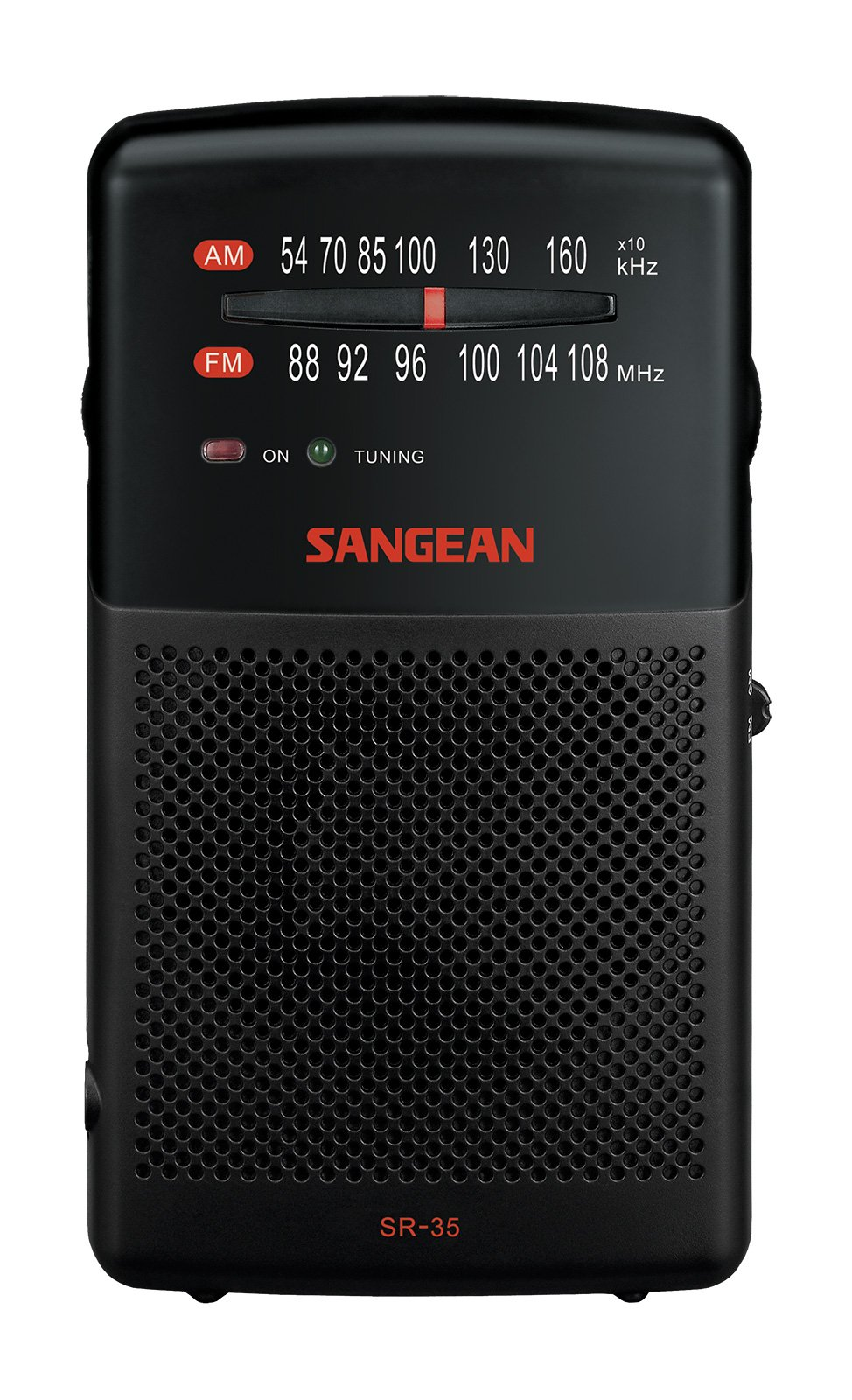Sangean SR-35 AM/FM Pocket Analog Radio, Black