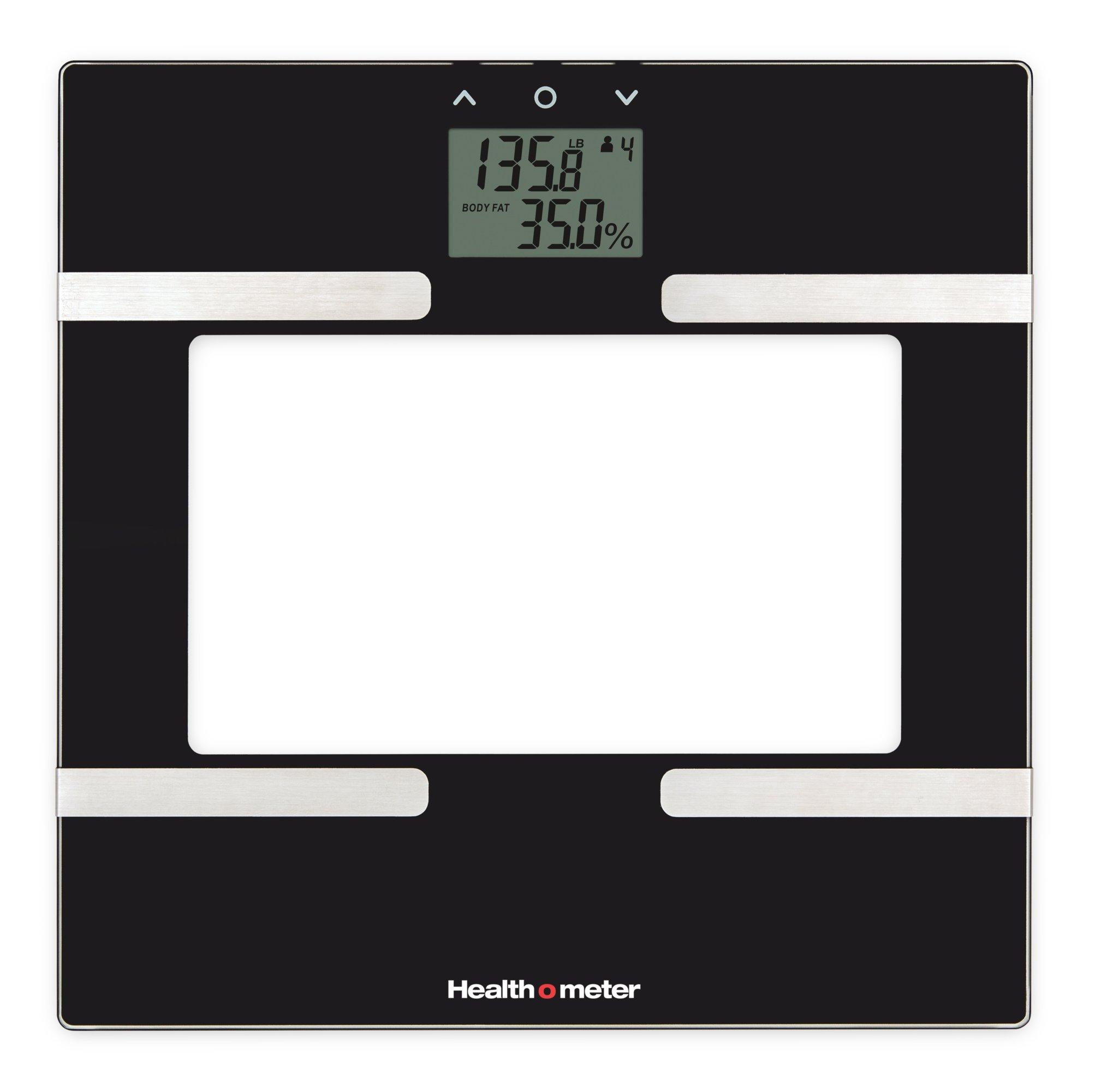 Health-o-Meter BFM600KD-53 Glass Body Fat Scale, Clear/Black