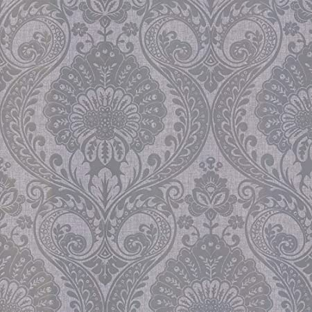 Luxe Damask Wallpaper Silver Arthouse 906609 Amazon Com