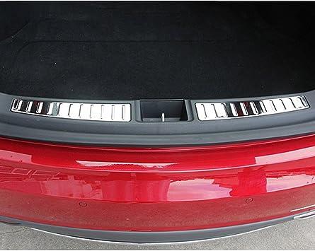 Stainless steel Rear Fog Light Lamp Frame Cover Trim For Tesla Model X 2016-2018
