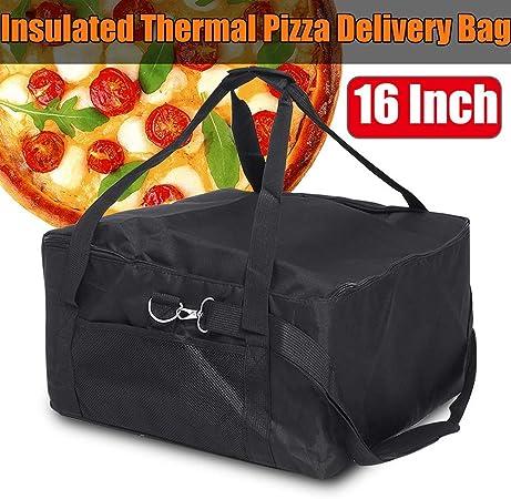 GCDN Colore: Rosso//Nero Nero Borsa Termica per la Consegna della Pizza Taglia Libera 40,6 cm