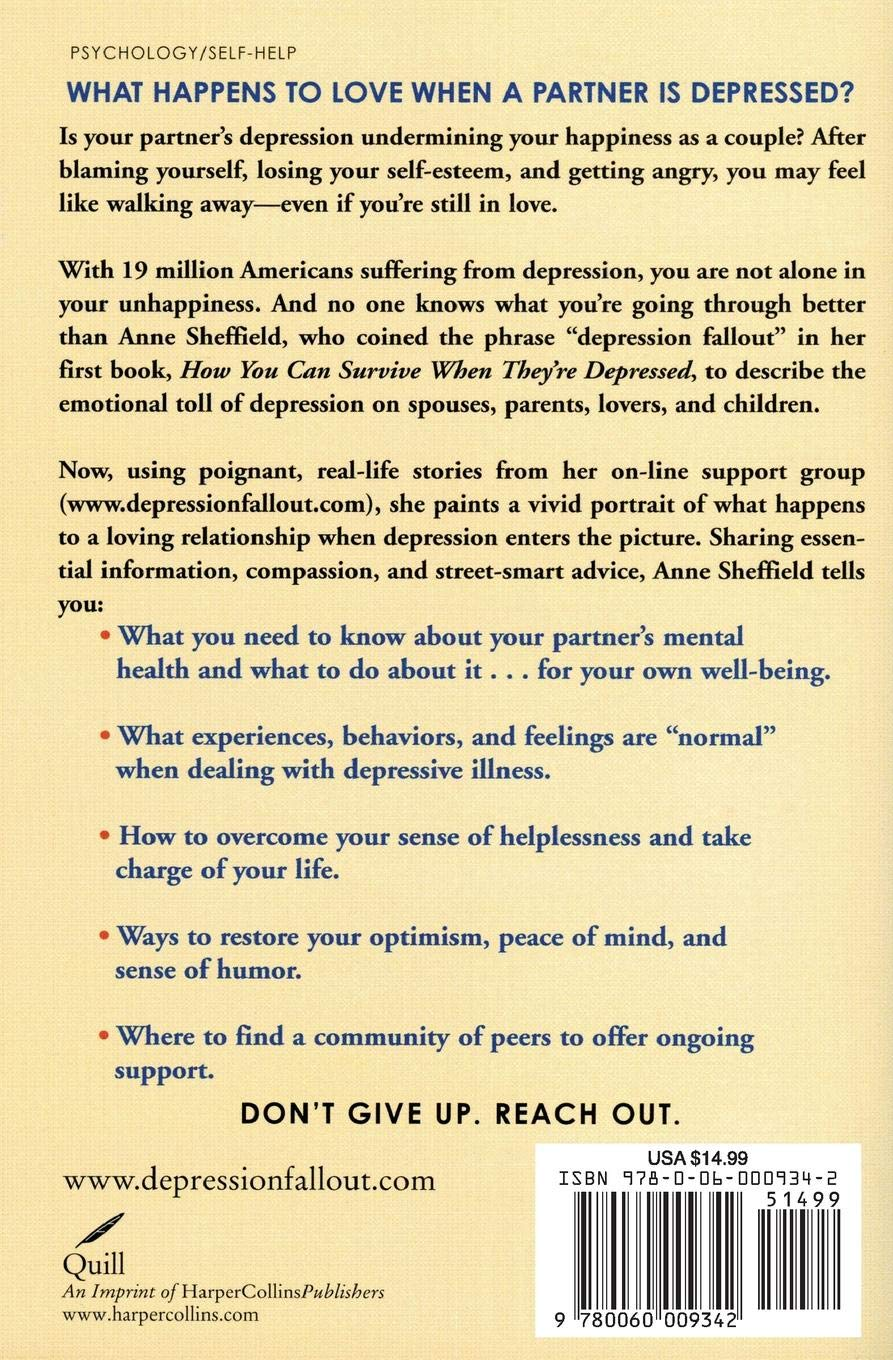 Depression Fallout: The Impact of Depression on Couples and What You Can Do  to Preserve the Bond: Sheffield, Anne: 8601404594236: Amazon.com: Books
