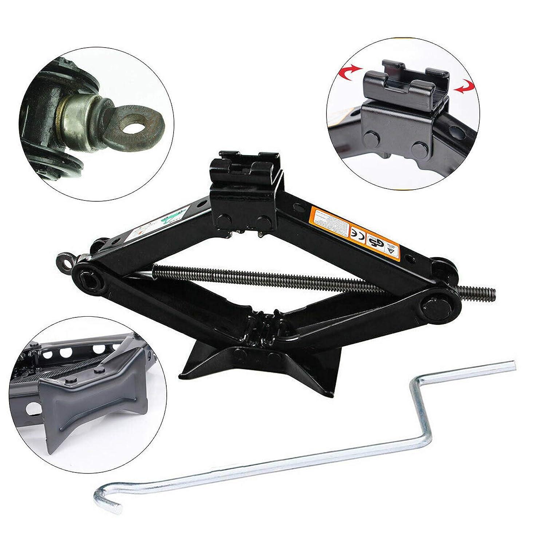 Xinner Set of 2 Scissor Jacks 4000lbs Heavy Duty 2 Tons Car Jacks w//Handle for Universal Car Truck Vehicles Van