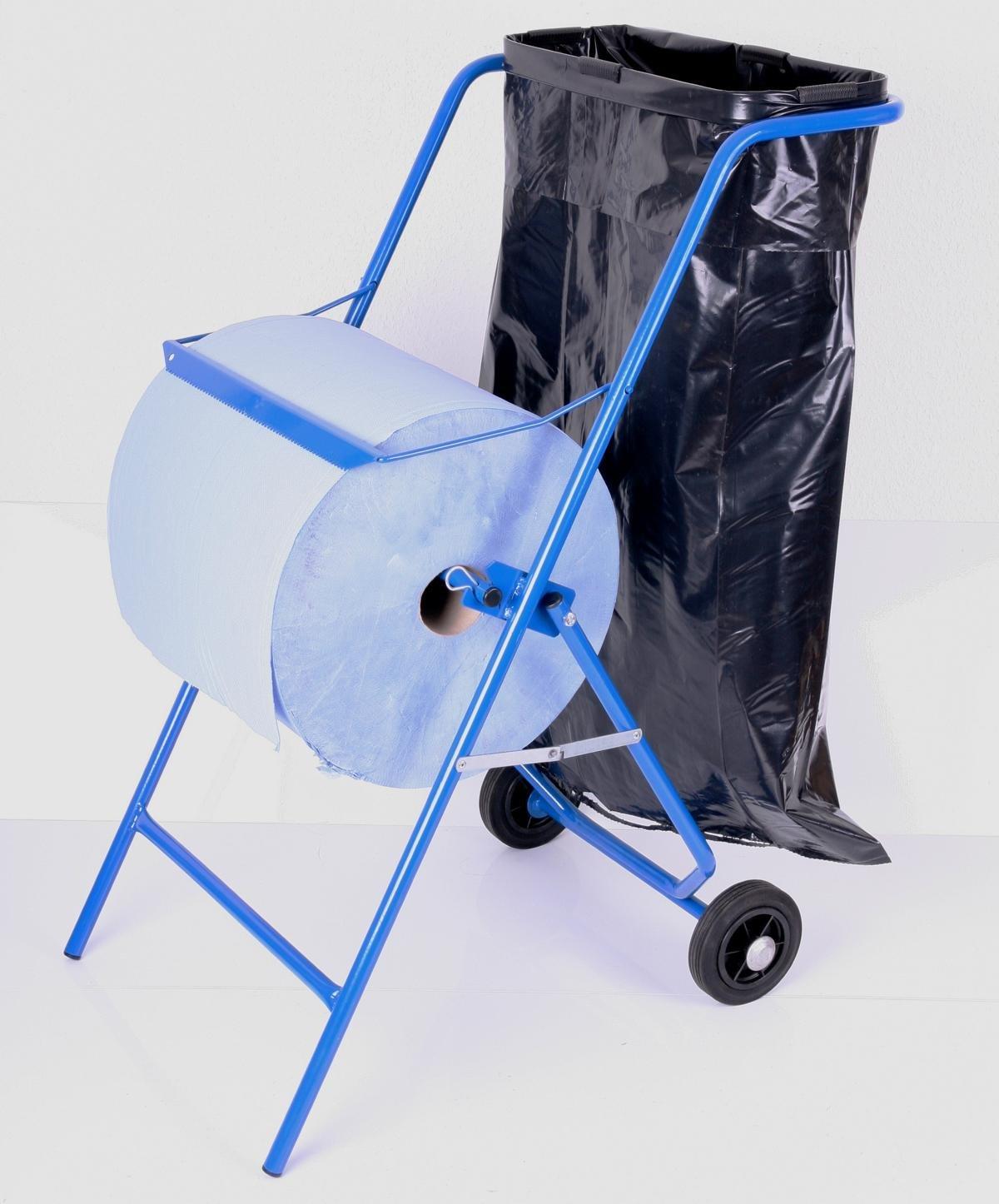 Papierrollenhalter Bodenständer inkl. Müllsackhalter, 100 x 50 x 70 ...
