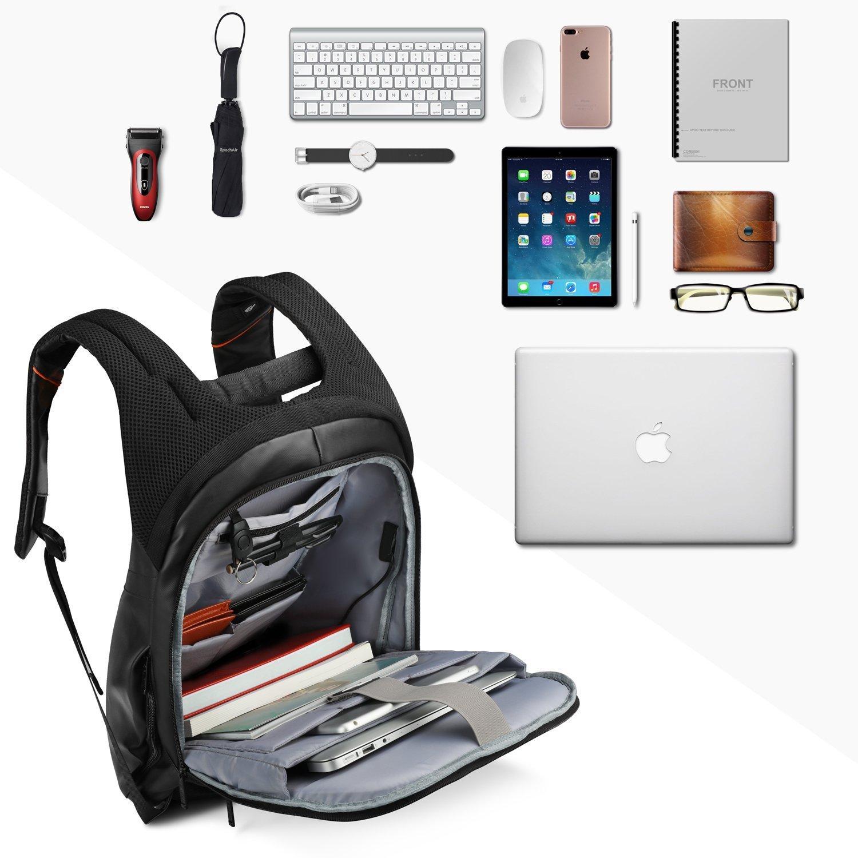 Multi-funzionale Impermeabile Alta Capacita Laptop Zaino Scuola Business per Computer Portatile da 15,6 pollici con -Grigio anti-furto USB Port SPARIN Laptop Zaino