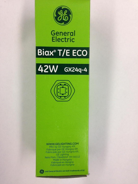 20 Pieces GE 65338 F42TBX//850//A//ECO 42W T4 4-Pin Base 5000K 800 Series Daylight Triple Tube Triple Biax Ecolux CFL GX24q-4