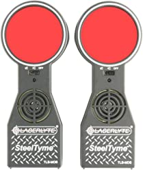 LASERLYTE trainer target Steel Tyme with PLINKING STEEL sound like target shooting with laser trainers LEDs light up giving an audio and visual training experience SHOOT LASER dots at steel