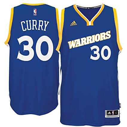 Outerstuff Stephen Curry Golden State Warriors  30 NBA Youth Stretch  Crossover Swingman Blue Jersey ( 8d4502313